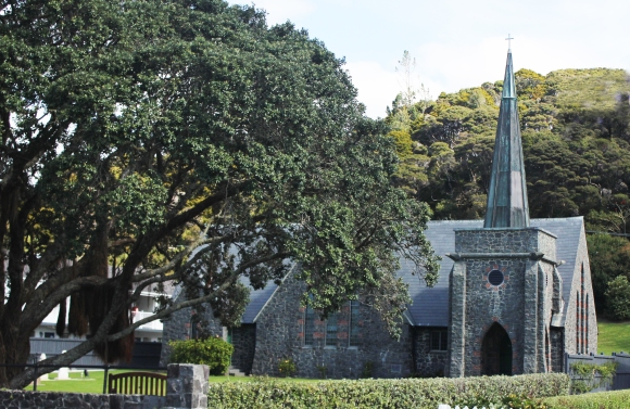 St Paul's Church, built in 1925 on the site of New Zealand's first mission station. The mission was founded by Englishman, Rev'd Henry Williams.