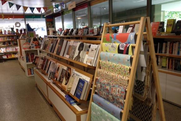 It's worth a look around the corner at the selection of books for all ages and the beautiful gift wrap.